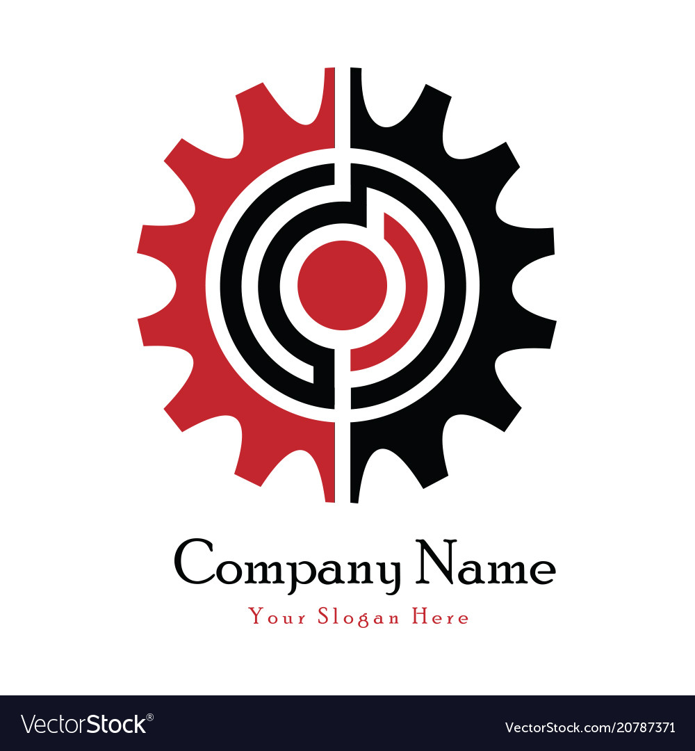 Circle technical logo vector image