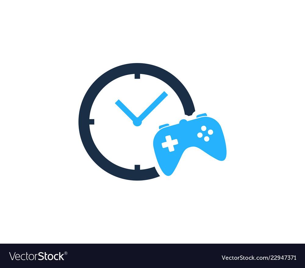Game time logo icon design