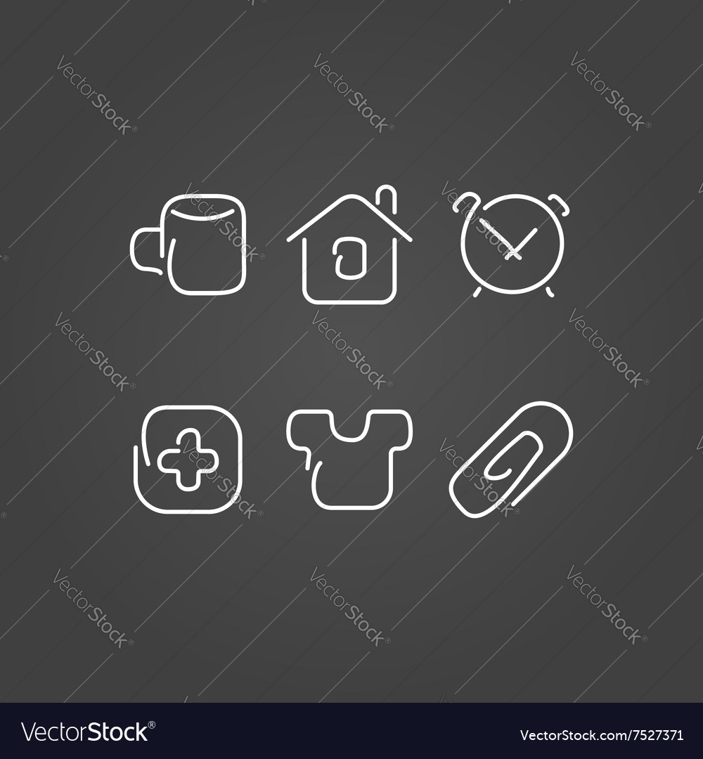Home set icons draw effect