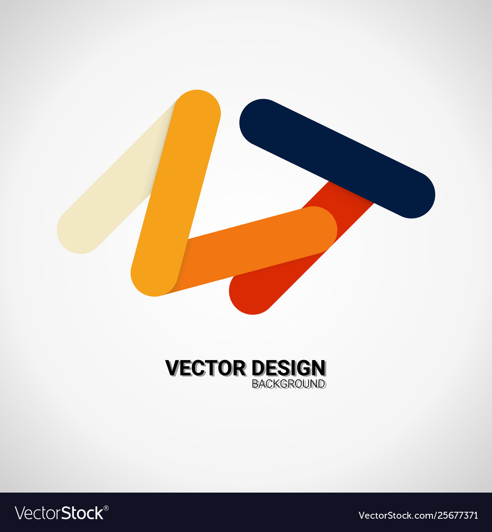 Modern business icon geometric emblem abstract