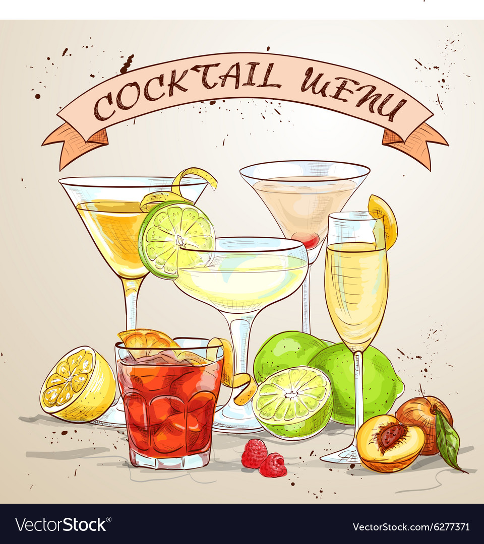 The Unforgettables Cocktail menu