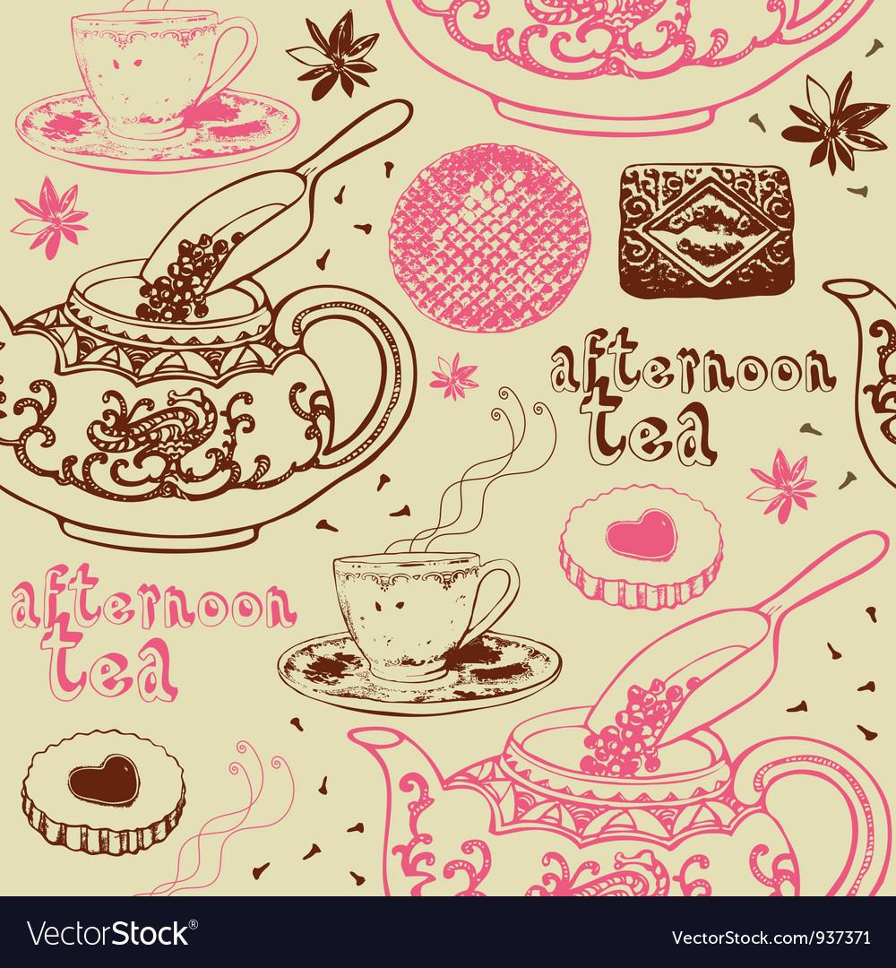 Vintage Afternoon Tea Background
