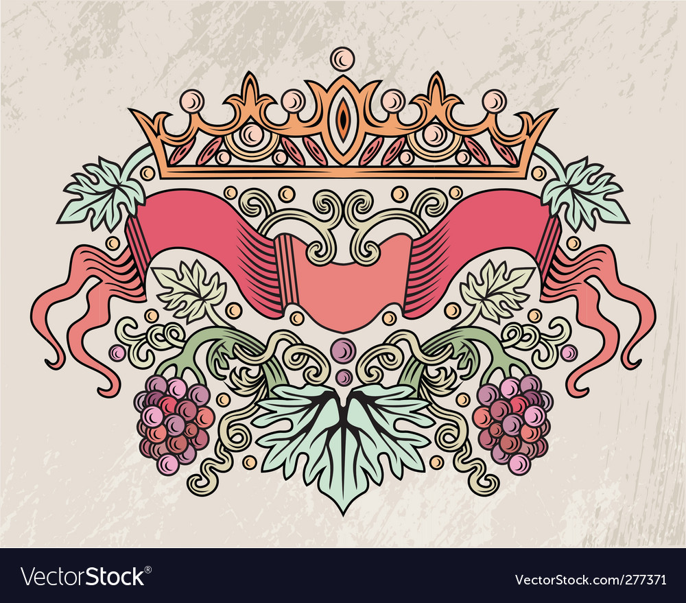 Wine sign vector image