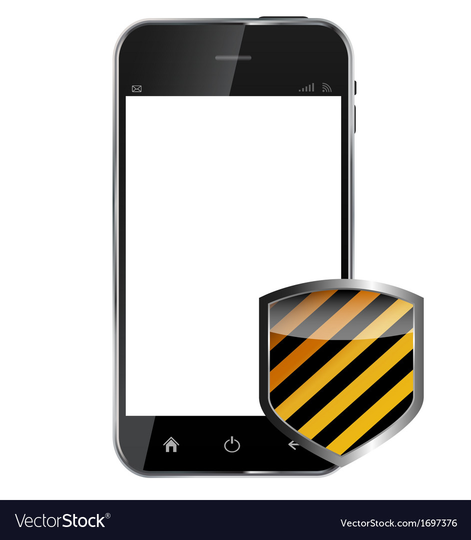 Abstract design realistic mobile phone with