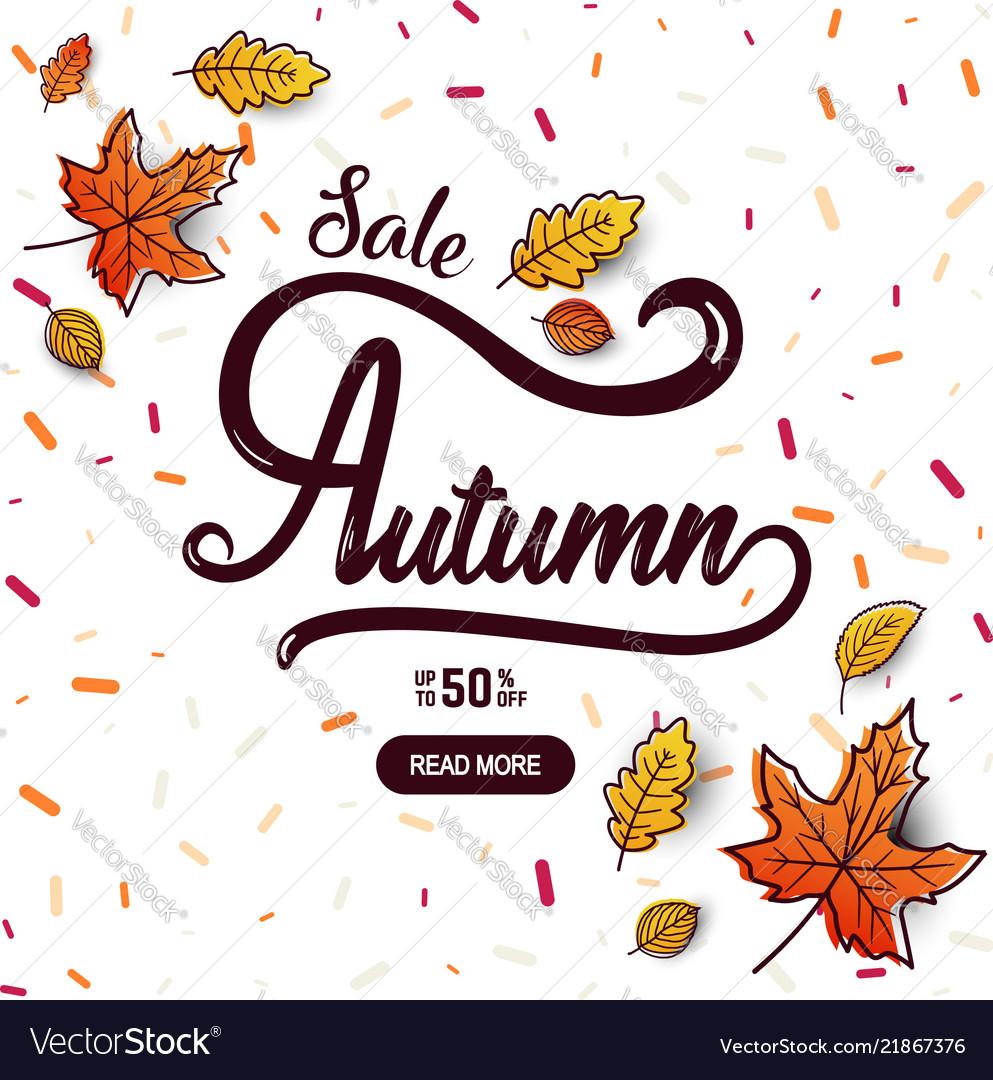 Autumn calligraphy banner