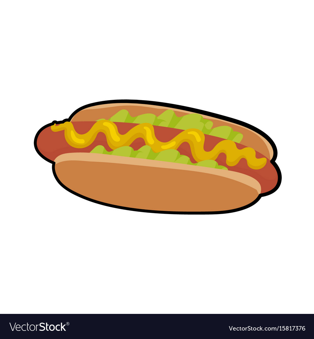 Isolated of delicious hotdog