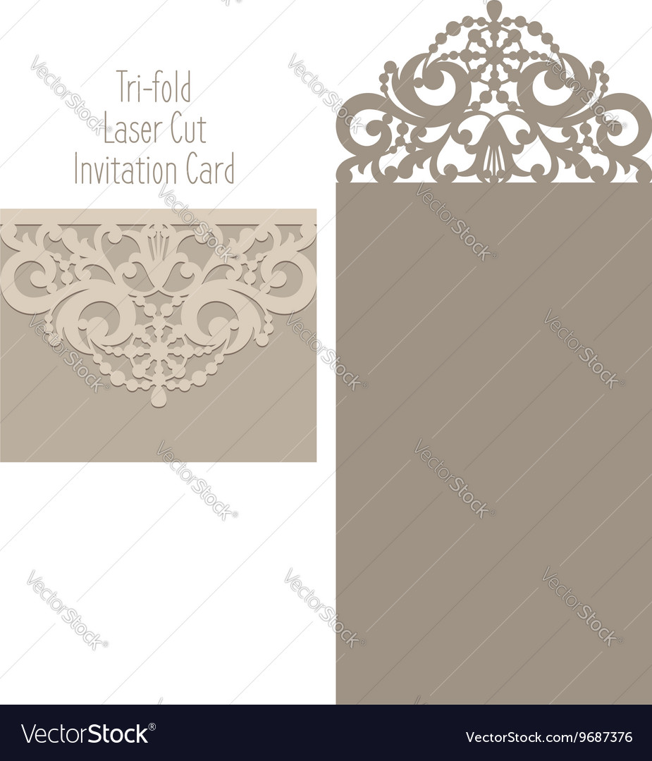 Laser cut envelope template for invitation vector image stopboris Choice Image