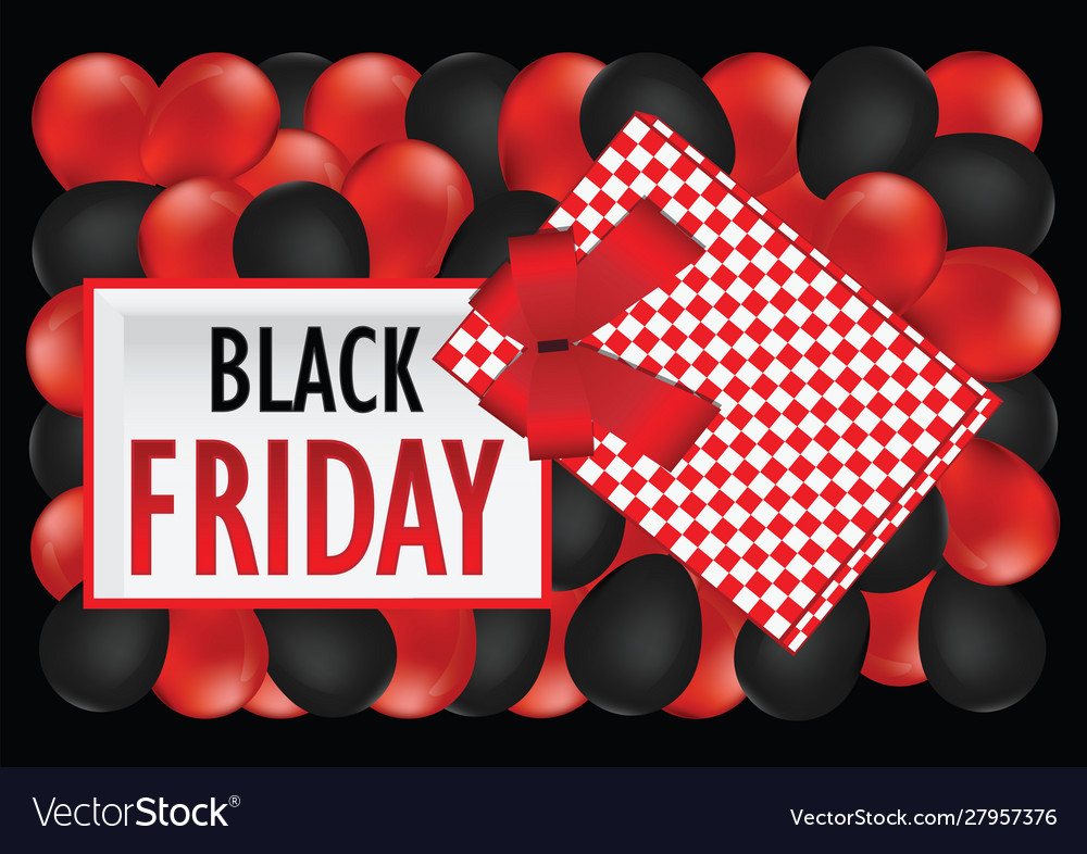 Top view black friday sale design