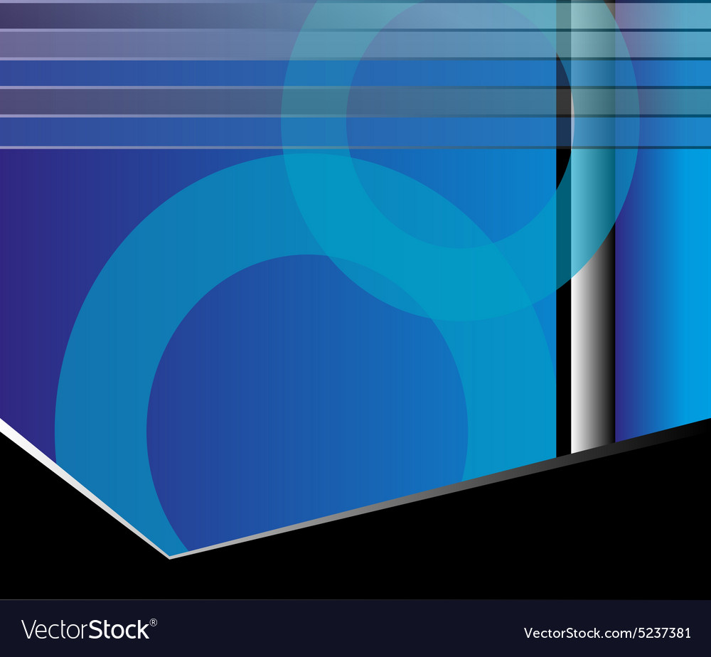 abstract blue flyer background royalty free vector image