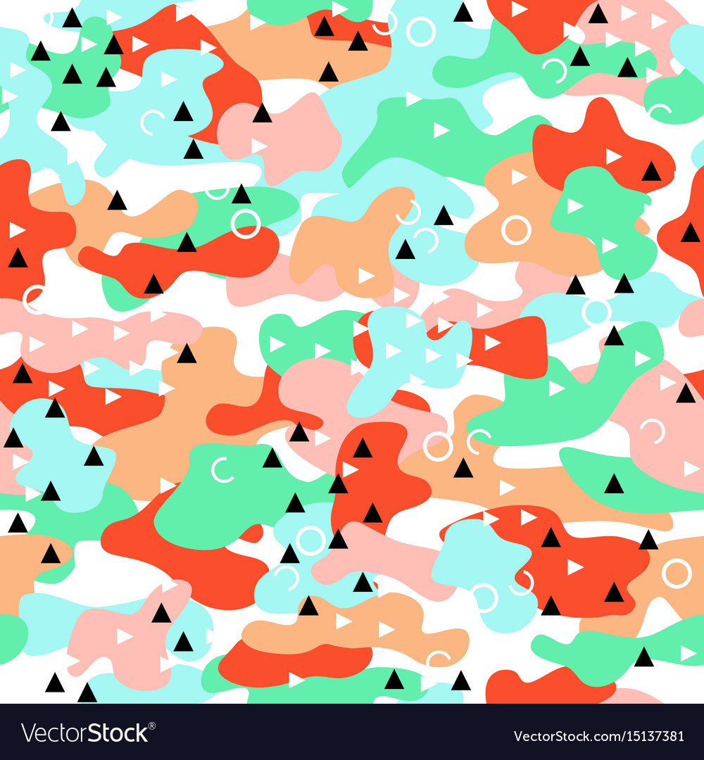 Camouflage seamless pattern in a pink blue green