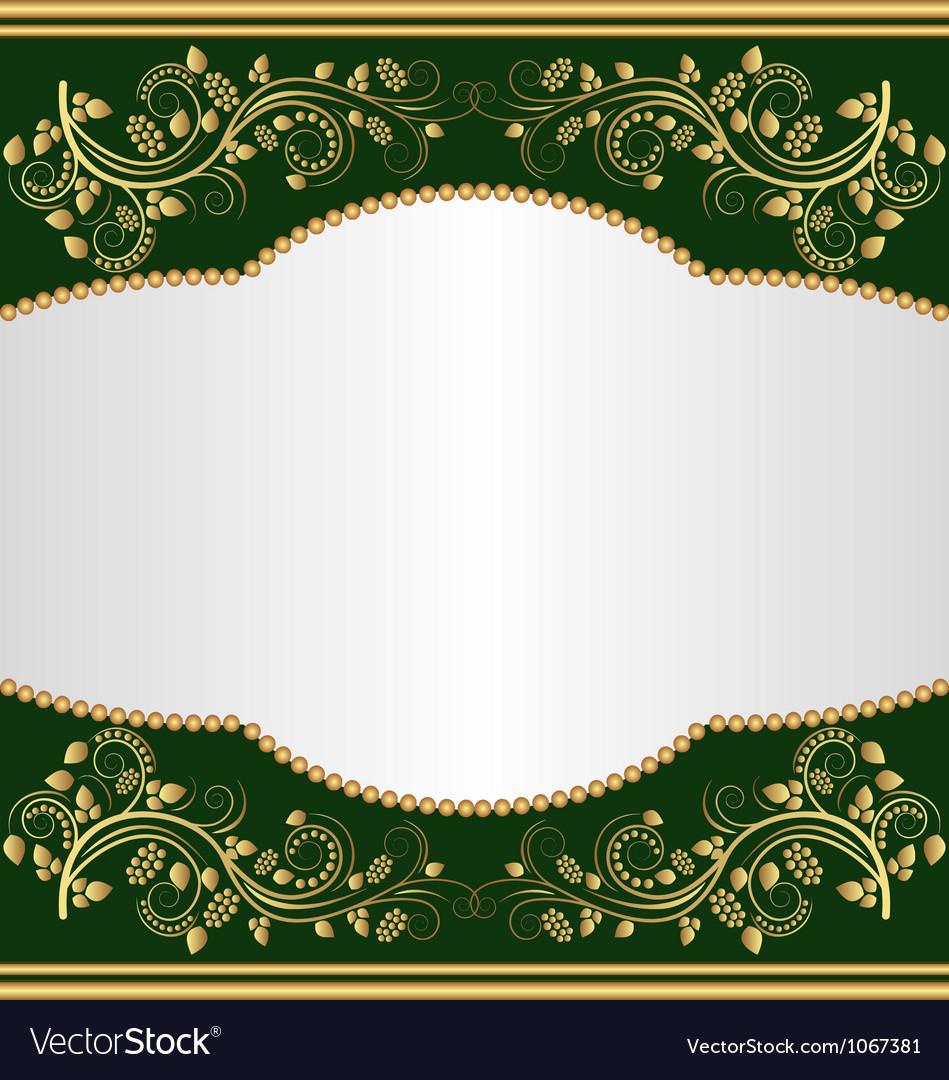 Dark green background vector image