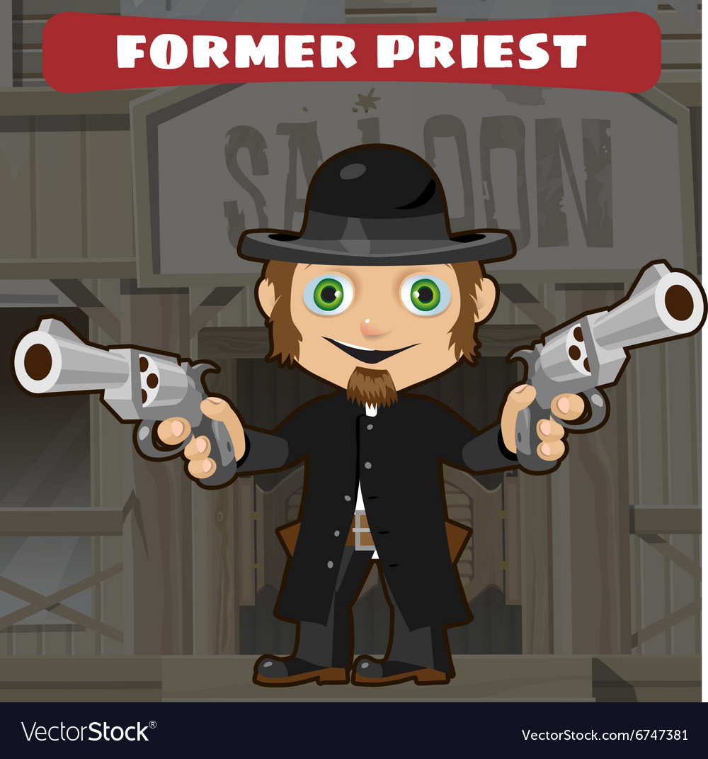 Fictional cartoon character - former priest vector image
