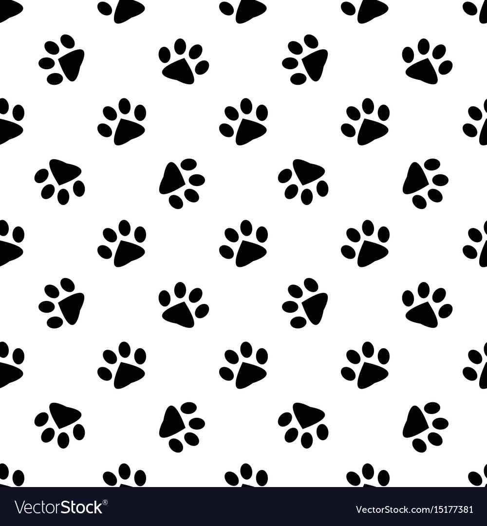 Pattern with animal footprints