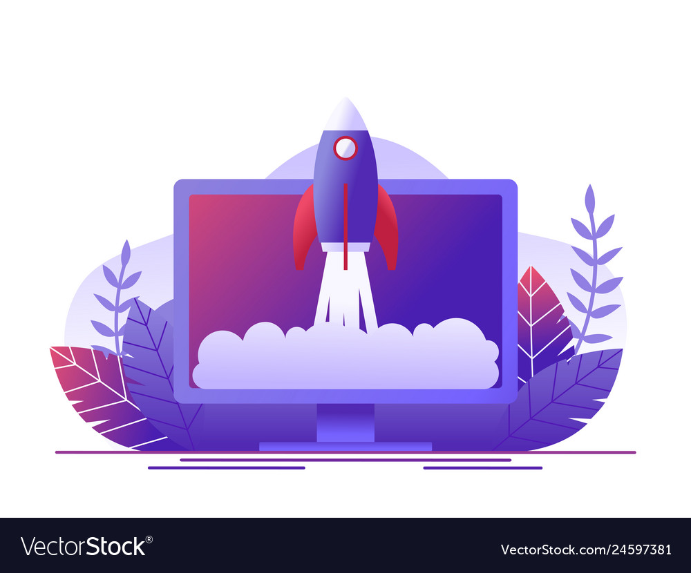 Rocket takes off in the computer concept of new