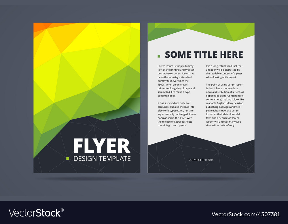 Two Sided Flyer Brochure Design Template Vector Image