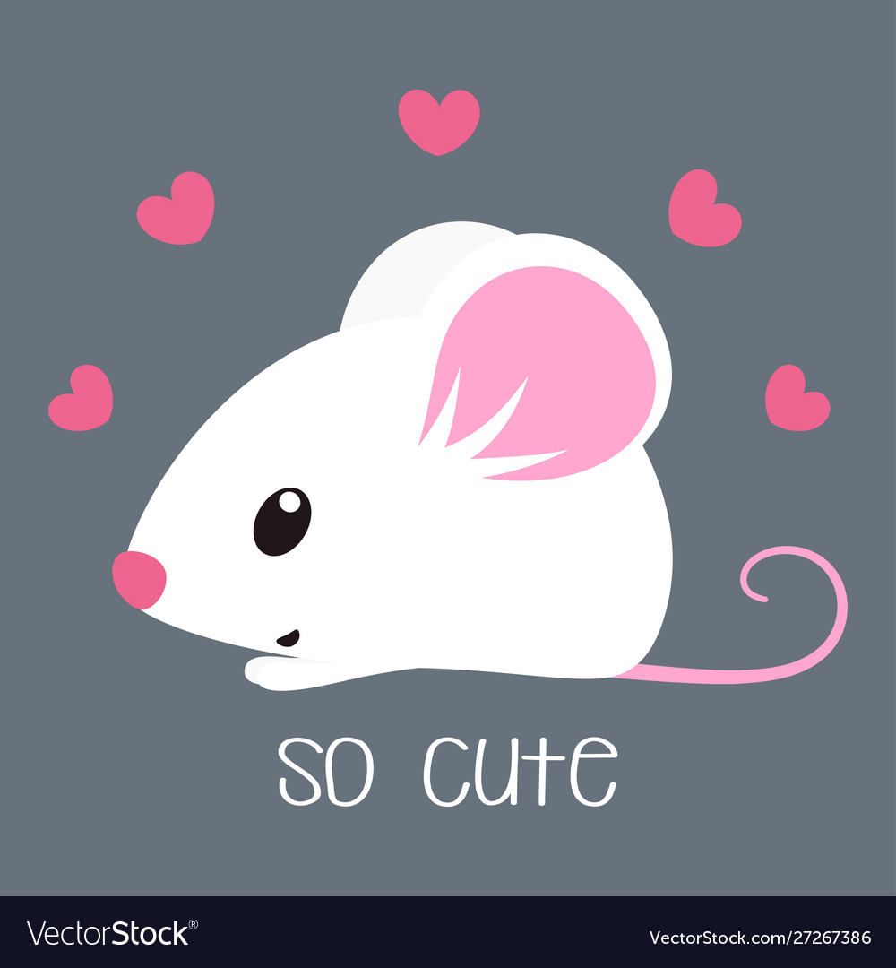 Card with cute mouse