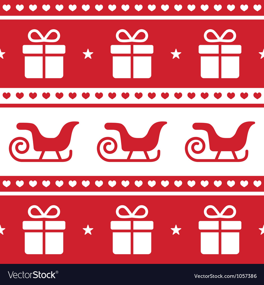 Christmas card seamless pattern