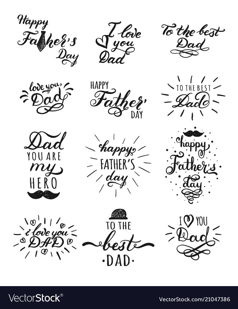 Happy fathers day typography collection 12