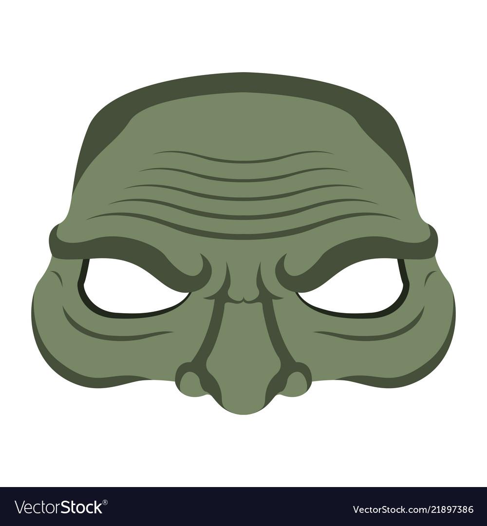 Isolated halloween zombie mask