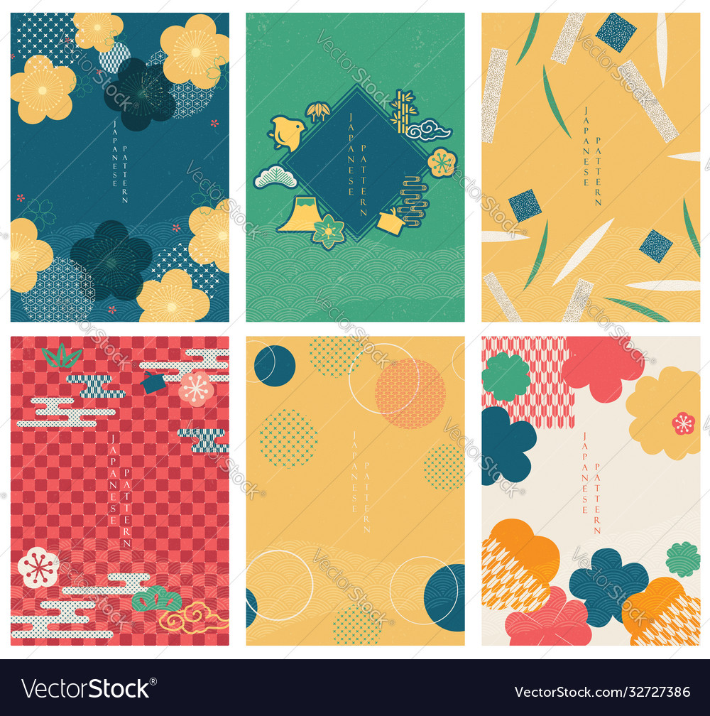 Japanese template line pattern in asian style