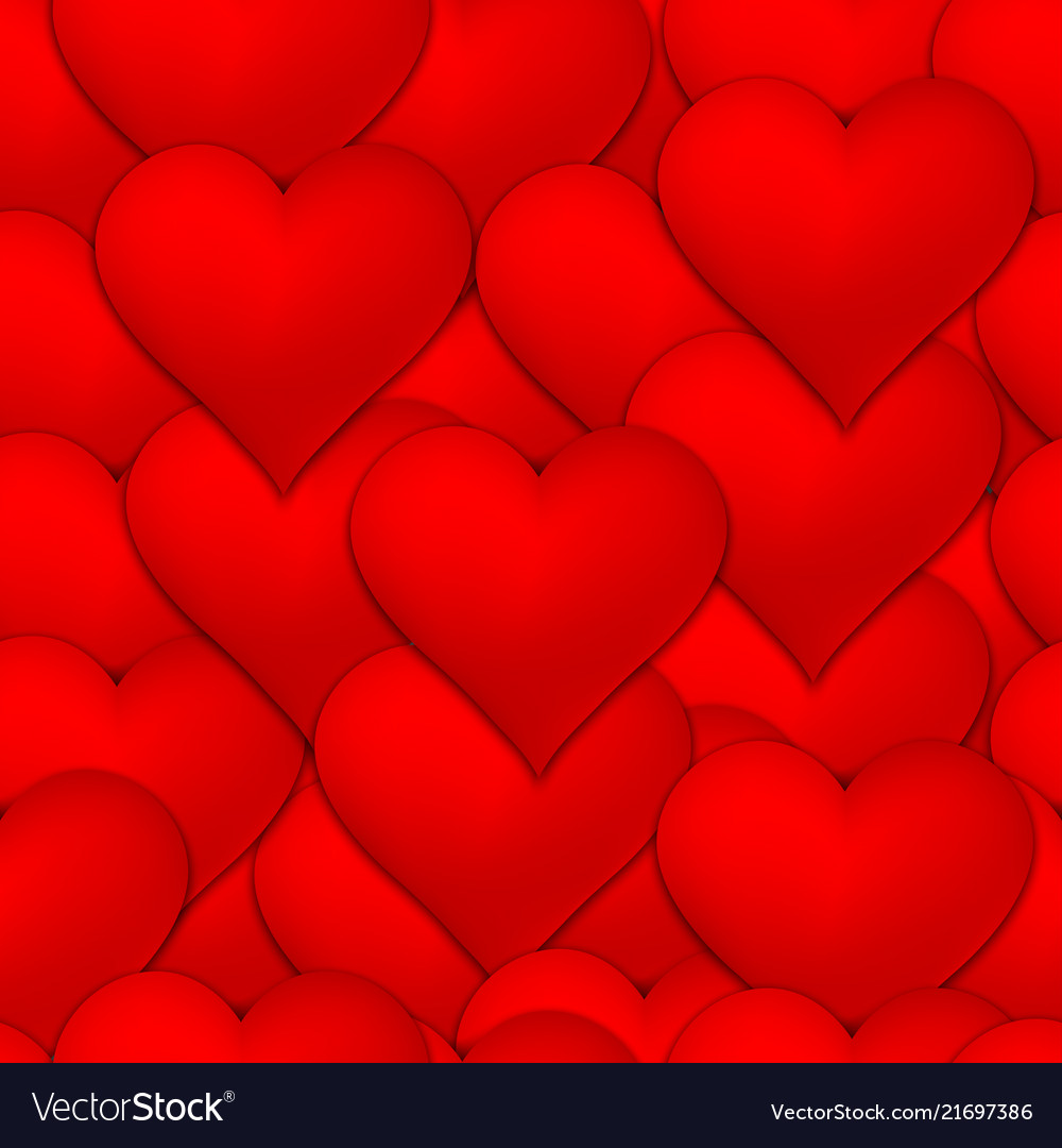 Lots of red hearts seamless pattern background