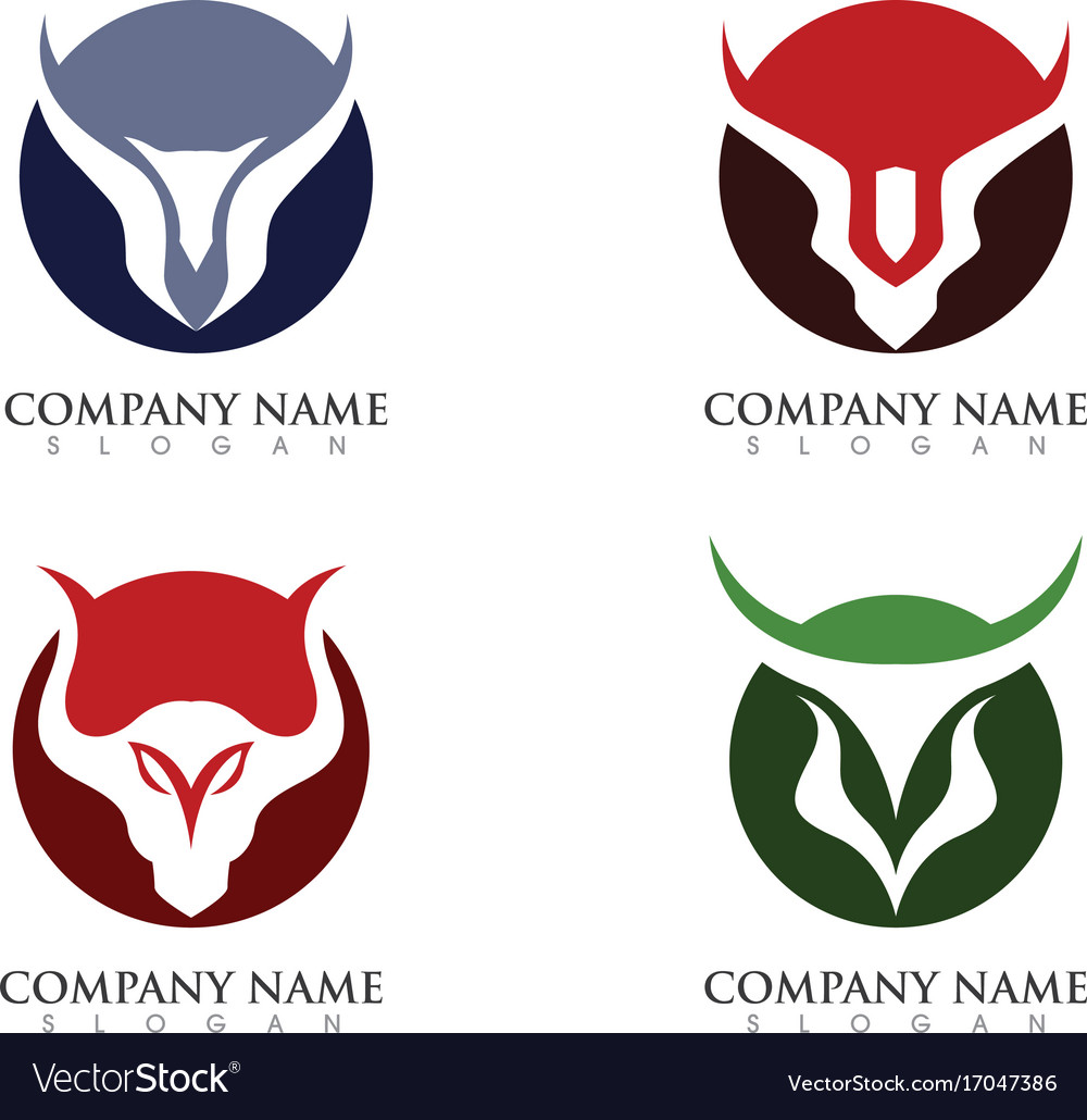 red bull taurus logo template icon royalty free vector image