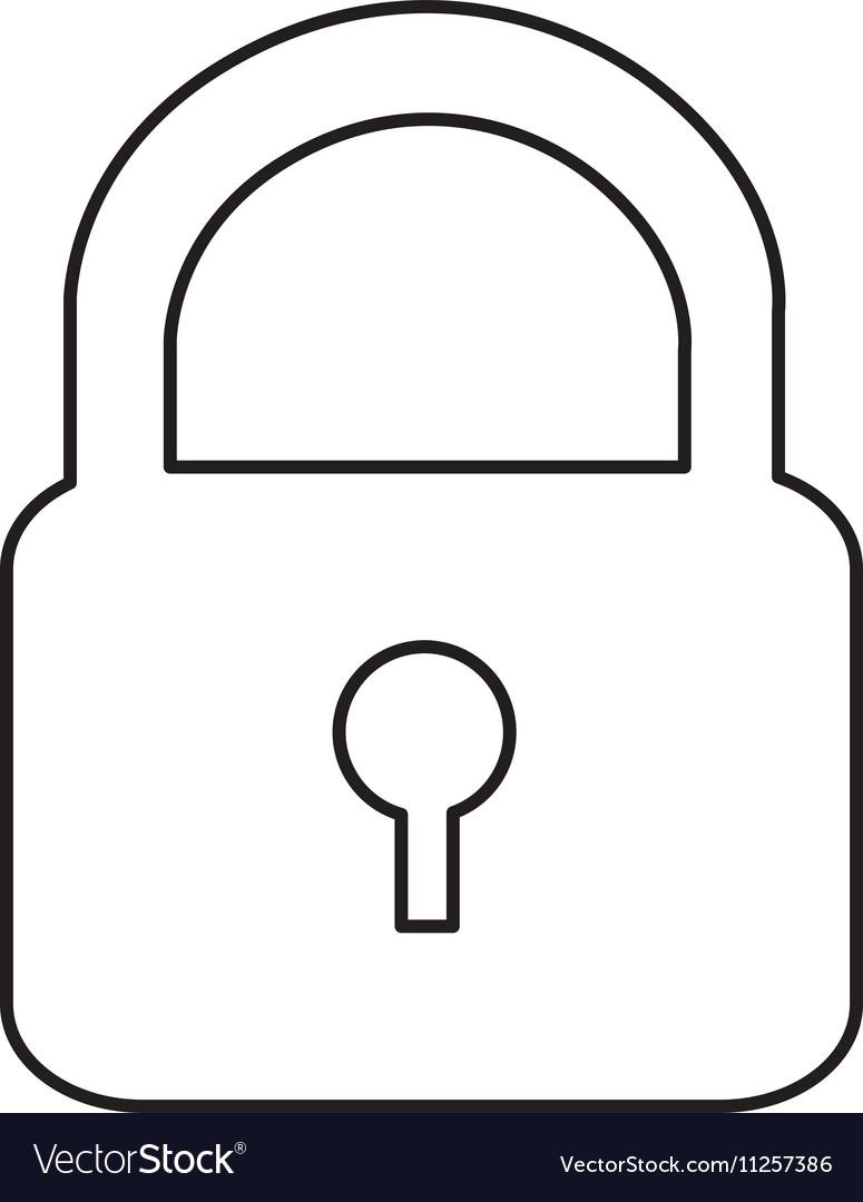 Safety lock pictogram icon image