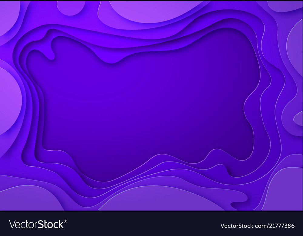 Shades of purple with smooth transitions are cut