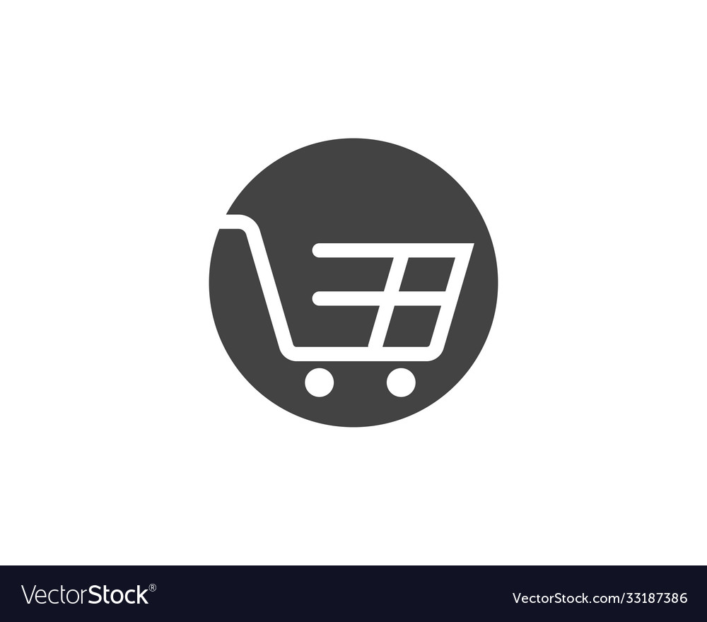 Shop store basket icon template