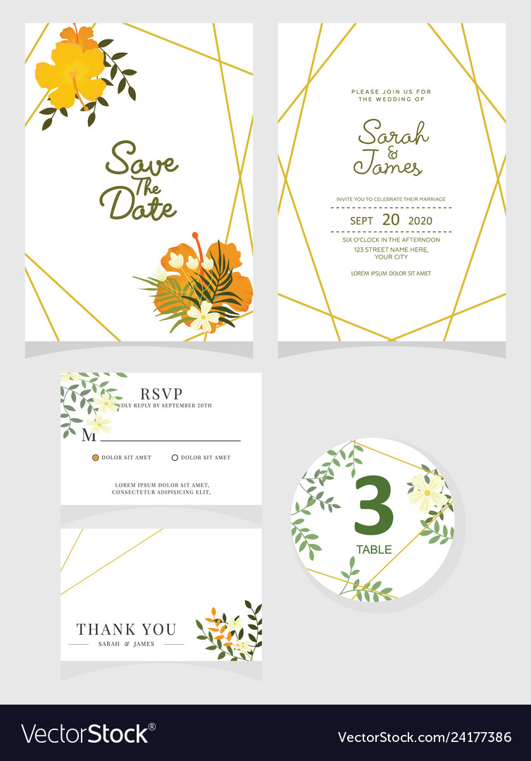 Wedding Invitation Card Template Eps 10