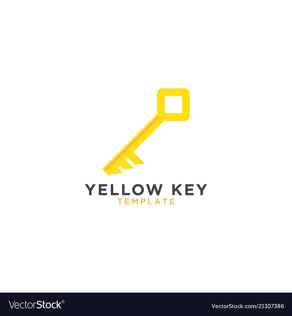 Yellow key graphic design template