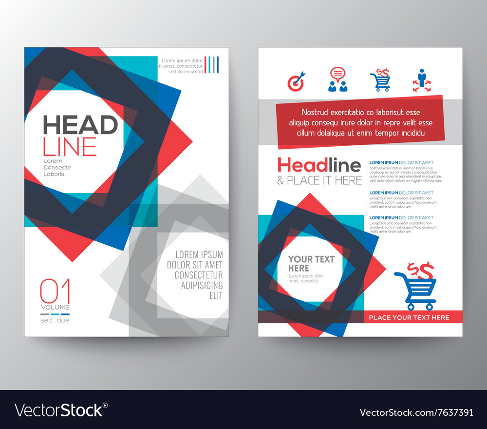 Abstract square shape background design Layout