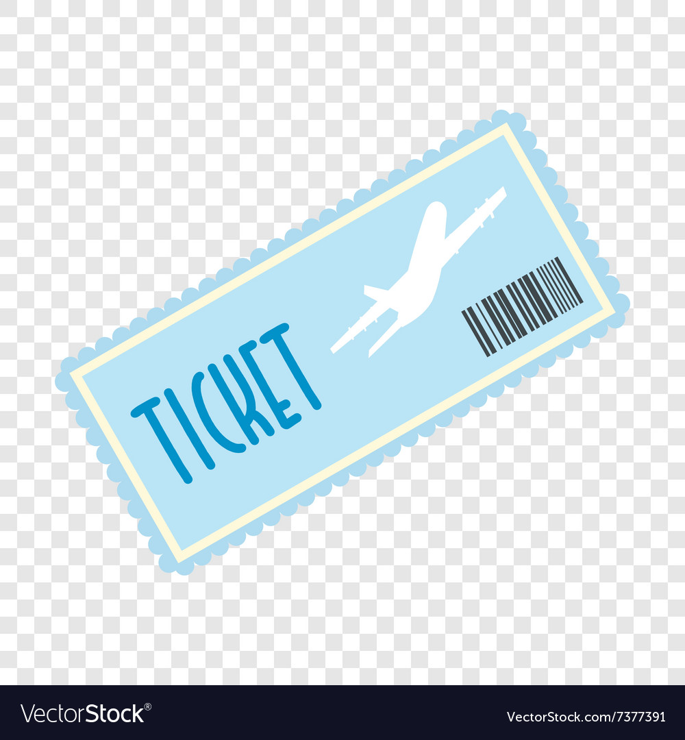 Airplane ticket flat icon