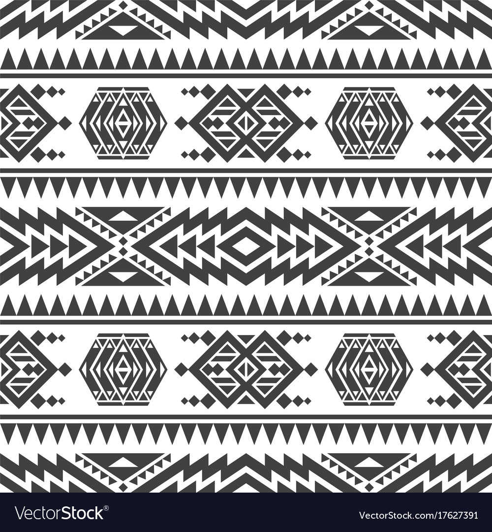 American aztec seamless texture native vector image
