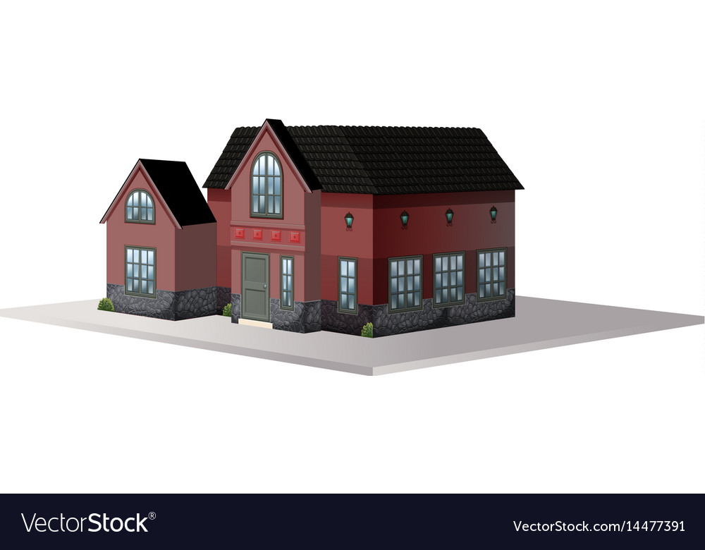 Architecture design for house with black roof vector image