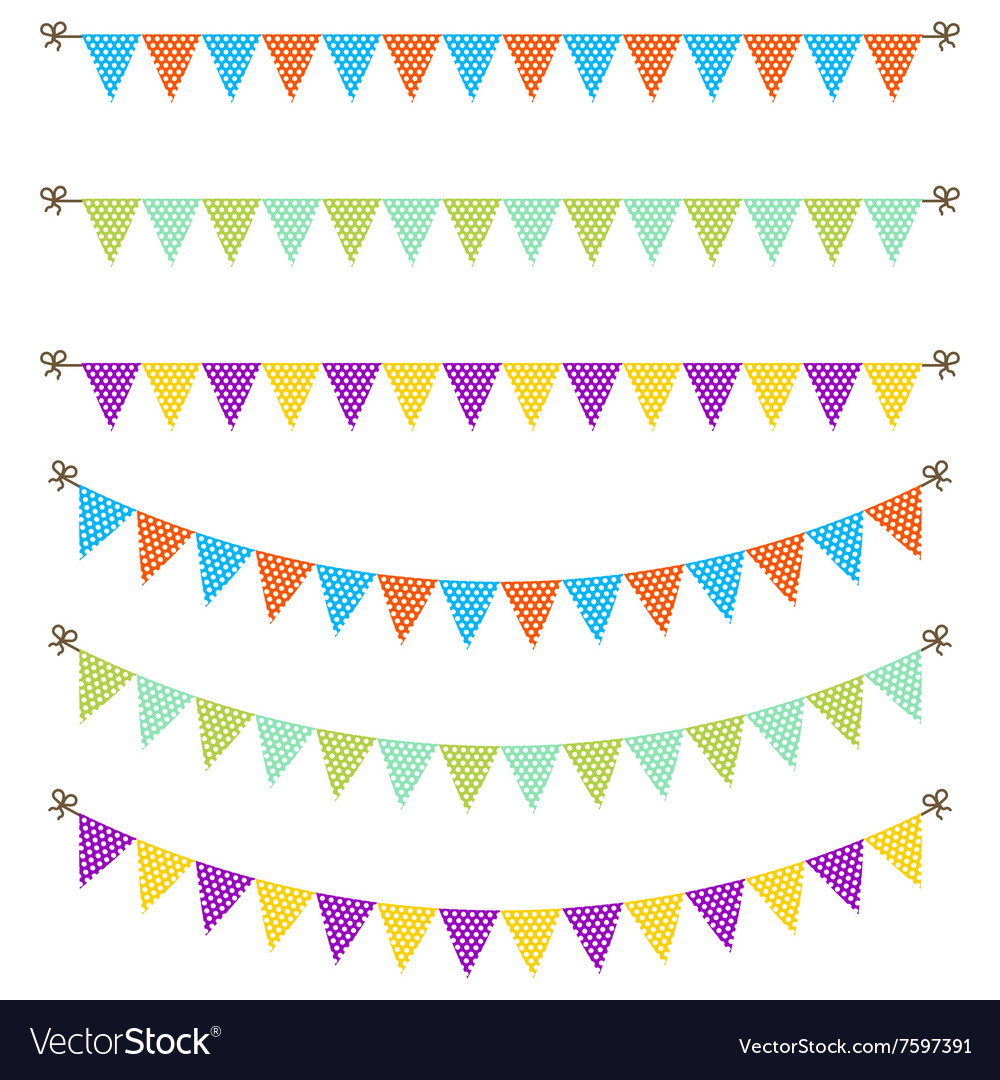 Bunting garland dotted flags