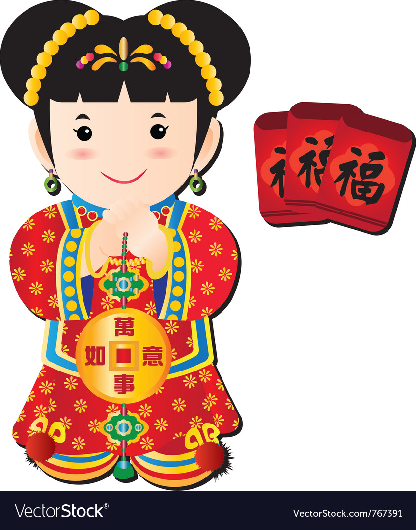 Chinese doll vector image