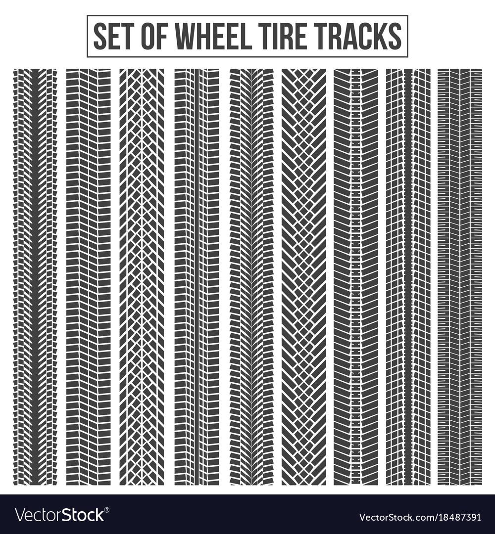 Creative of wheel tire tracks vector image