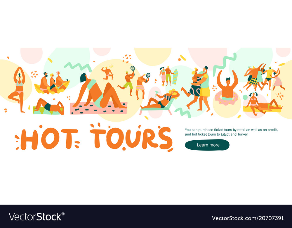 Flat vacation banner
