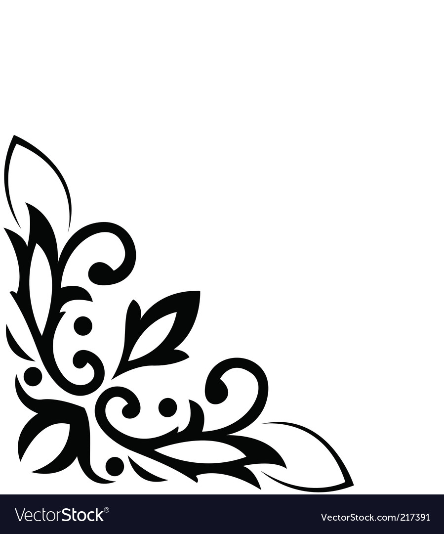 floral corner pattern royalty free vector image rh vectorstock com floral pattern vector background png flower pattern vector