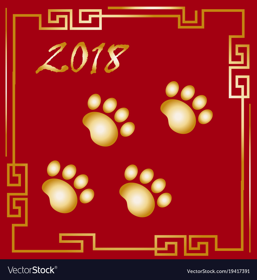 Happy chinese new year 2018 greeting card with a vector image on vectorstock m4hsunfo
