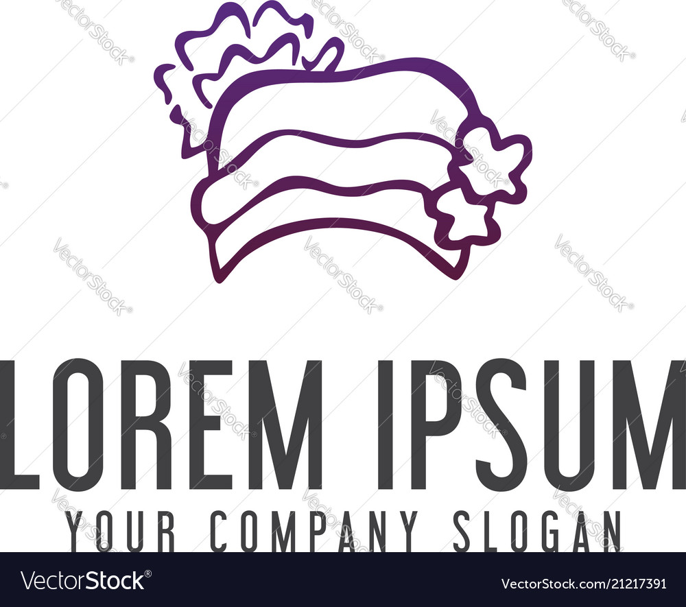 hat woman logo design concept template royalty free vector