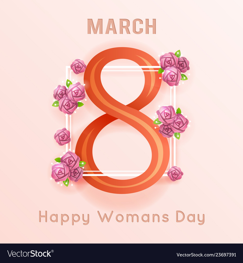 International women s 8 march day greeting card