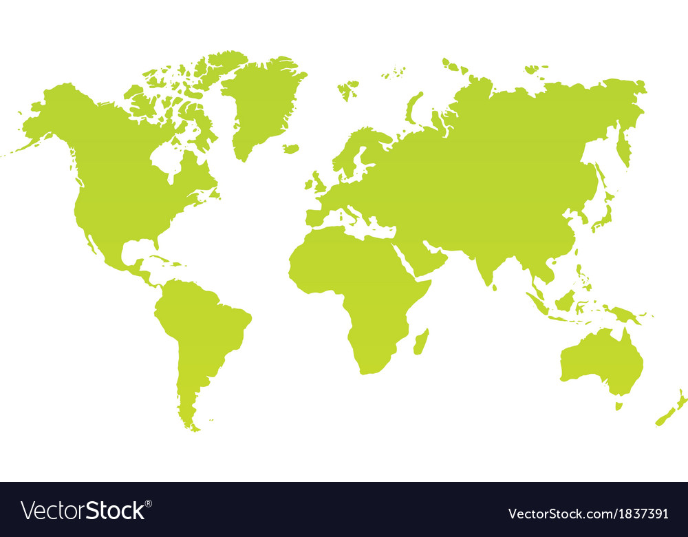 Modern color world map on white background vector image gumiabroncs