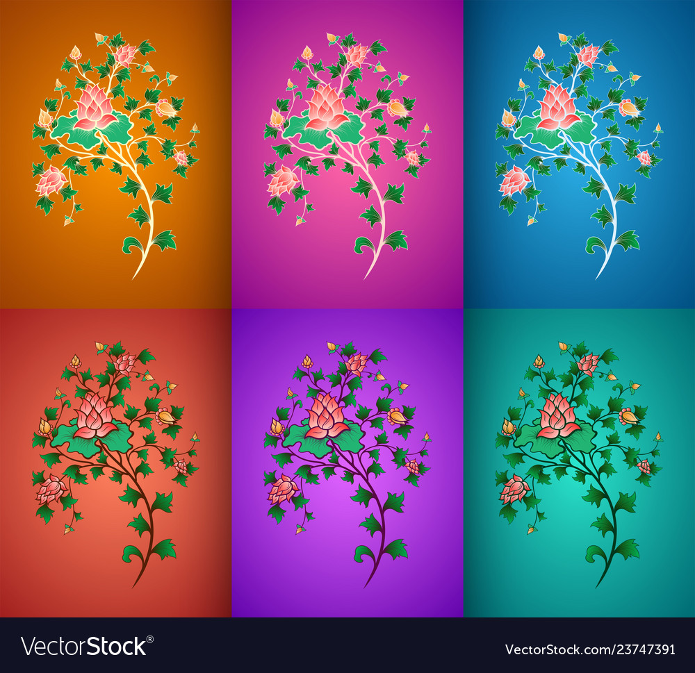Ornamental flowers composition