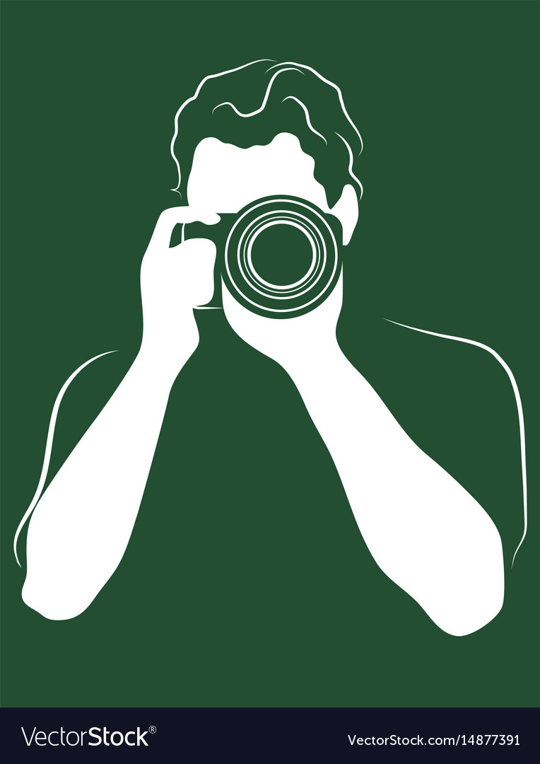 Photographer with the camera icon profession