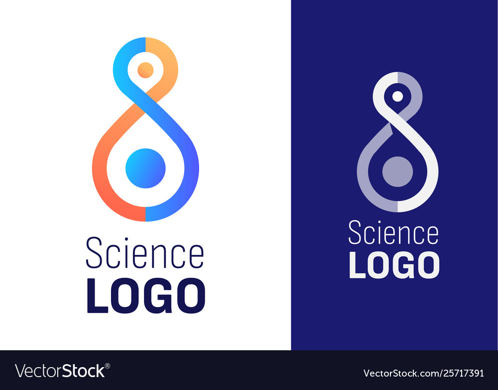 Science logo for company or event element