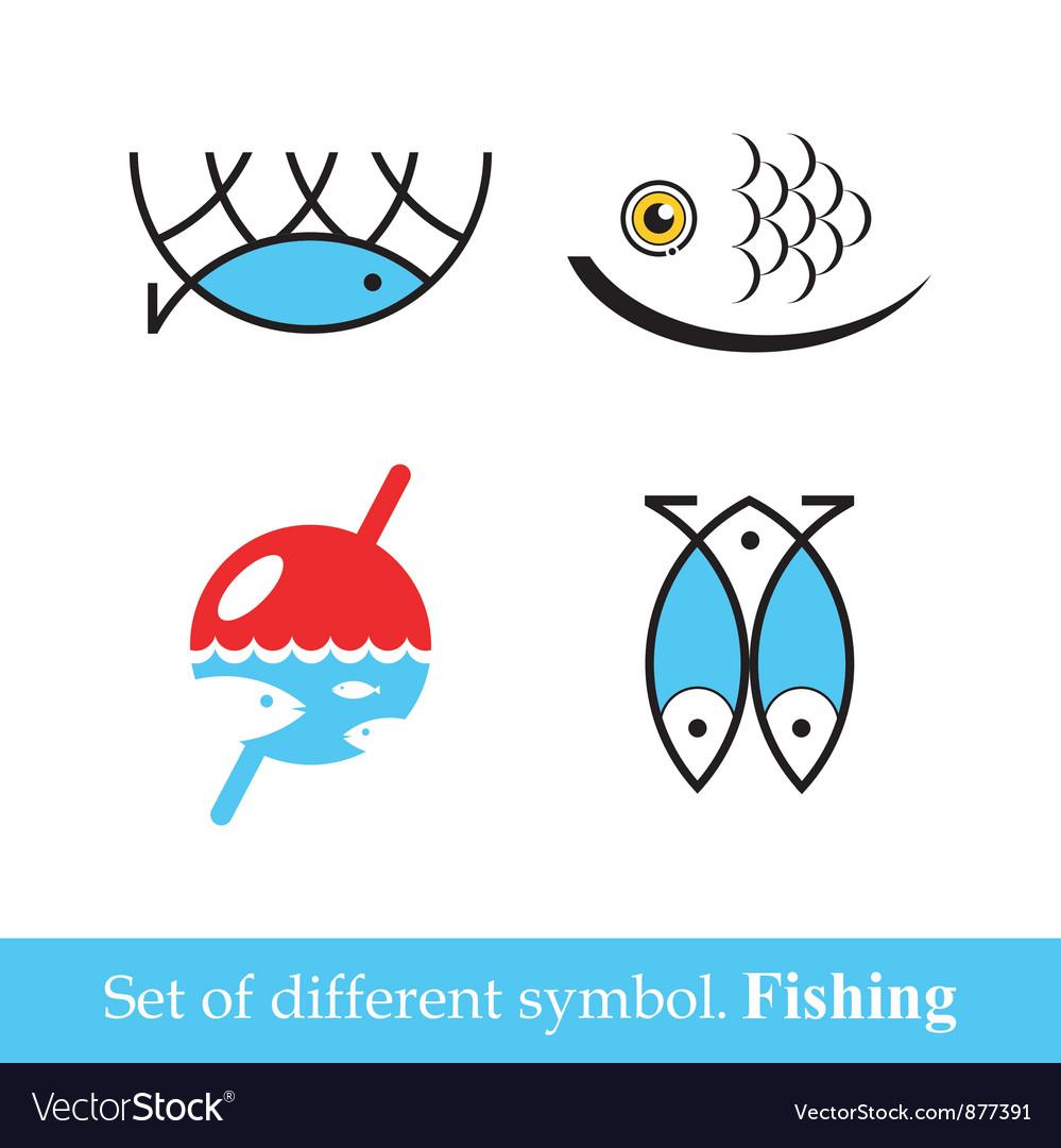 Set of symbols Fishing