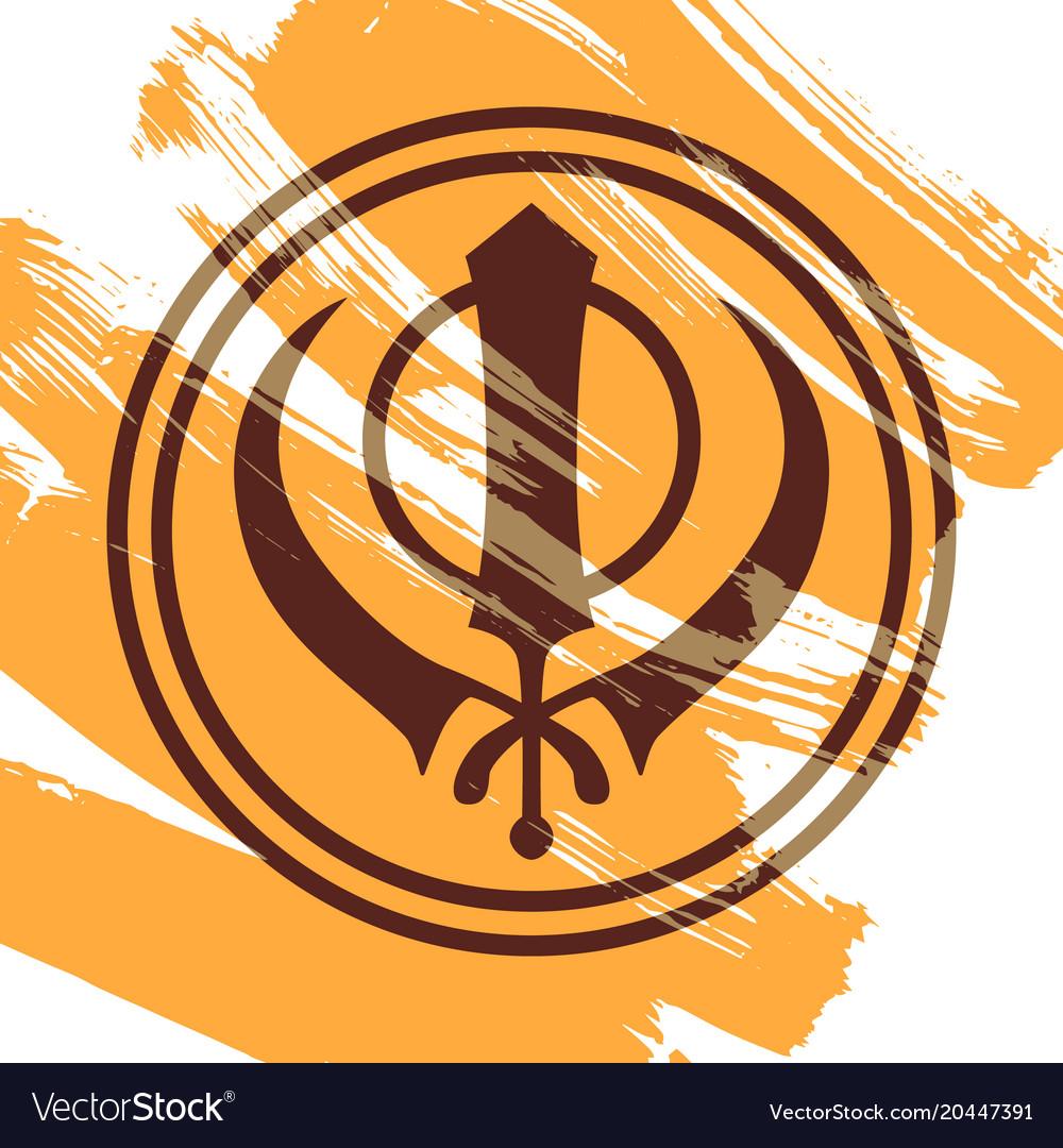 Symbol Of The Sikhs Khanda Royalty Free Vector Image
