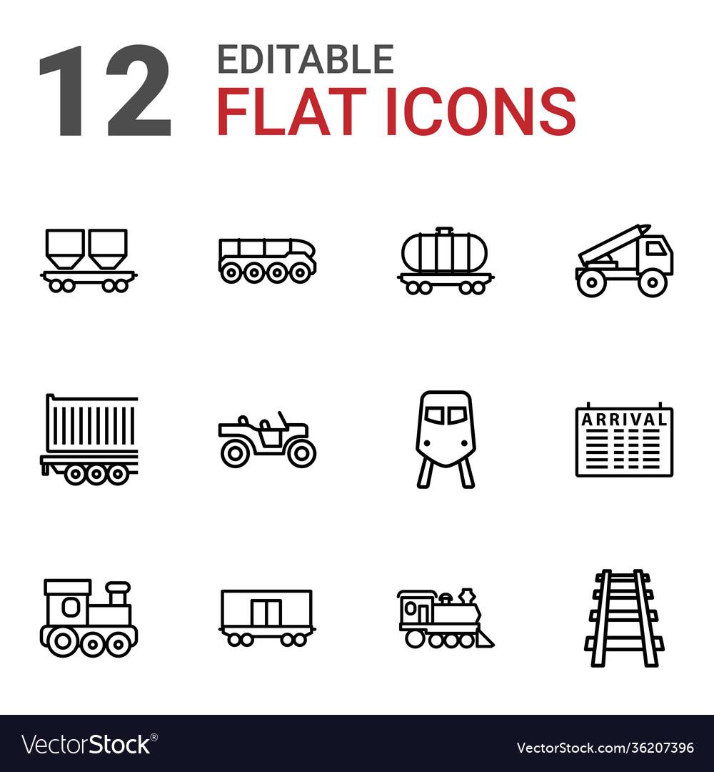12 train icons